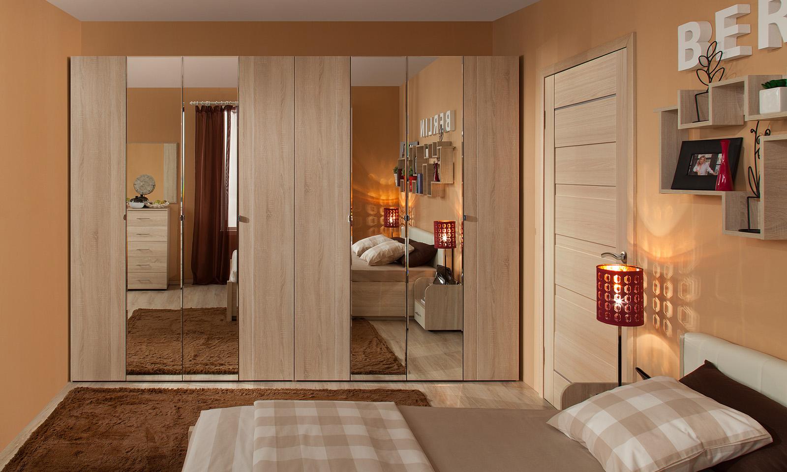 Шкафы в спальню. модульная серия berlin. глазовская мебельна.